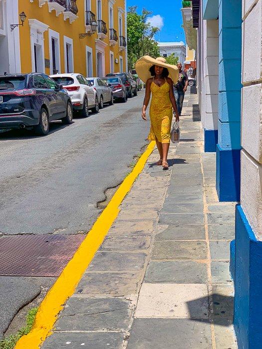 Dash of Jazz walking in Old San Juan, Puerto Rico