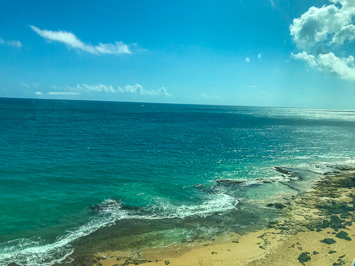 View of Condado Beach from Serafina Beach Hotel window