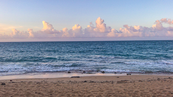 condado beach at sunset