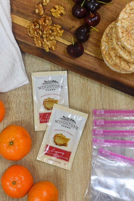 ingredients for healthy adult snack packs