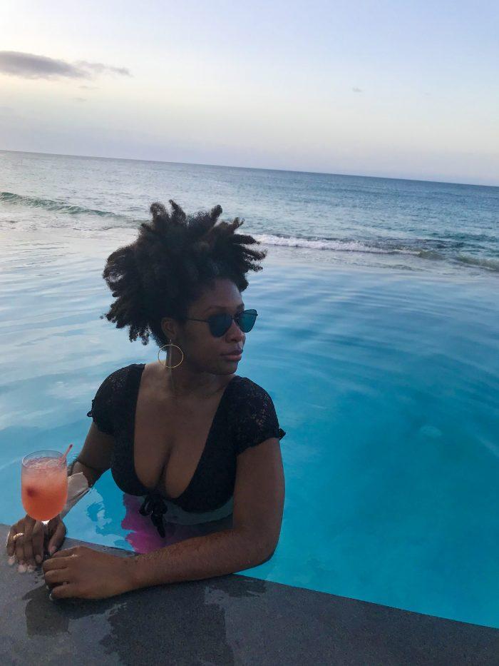 Dash of Jazz in Serafina Beach Hotel infinity pool