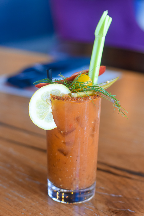Ghanaian Bloody Mary at Kulture brunch in downtown Houston