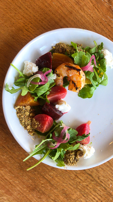 country beet salad at Kulture in downtown Houston