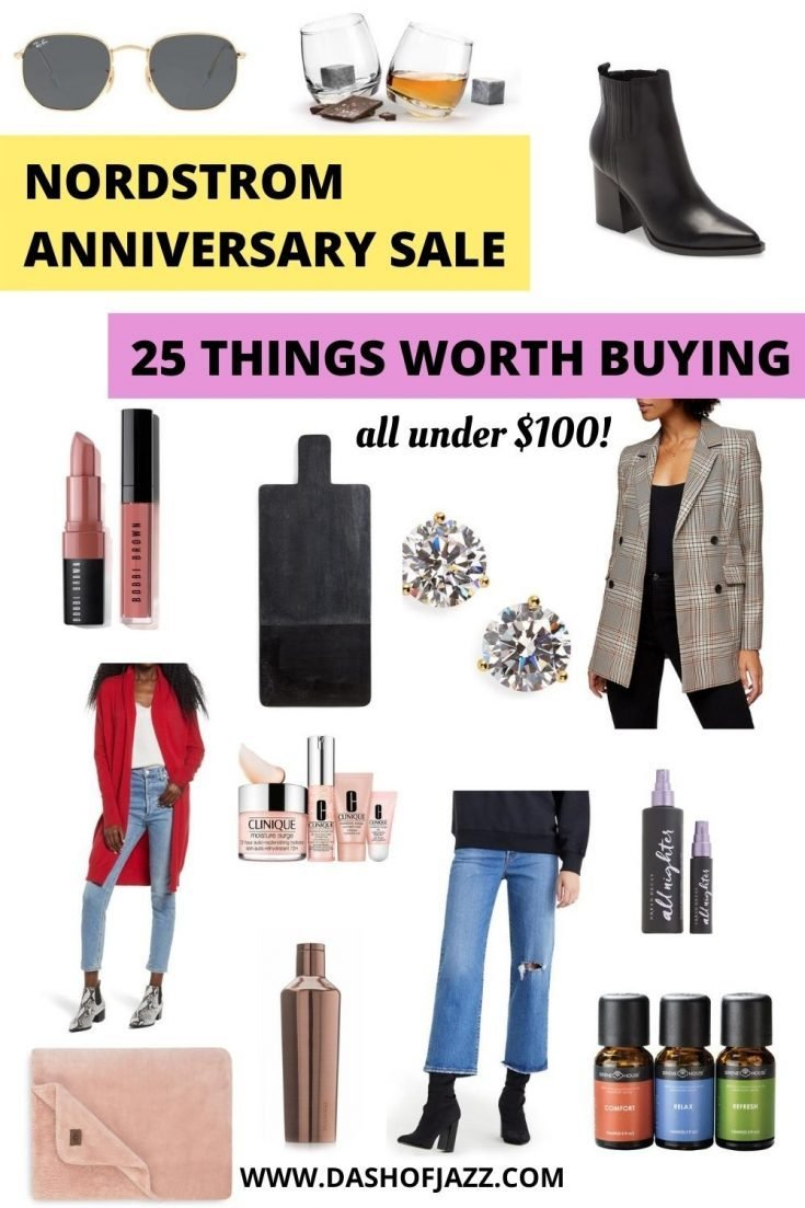 collage of clothing, home, and beauty items part of the Nordstrom Anniversary Sale 2020