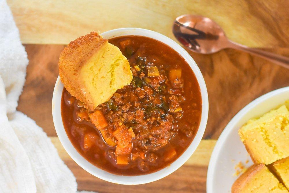 Moroccan Spiced Beef Veggie Chili Dash Of Jazz